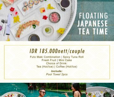 Floating japanese tea time