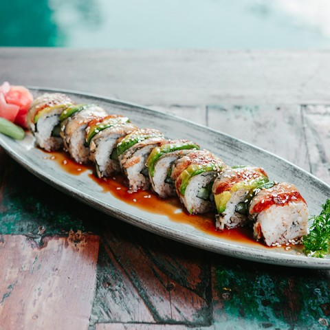 best sushi dancing eel roll bali